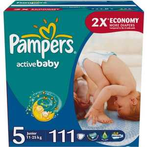 Pampers Active Baby подгузники Junior 11-18 кг (5) 111 шт